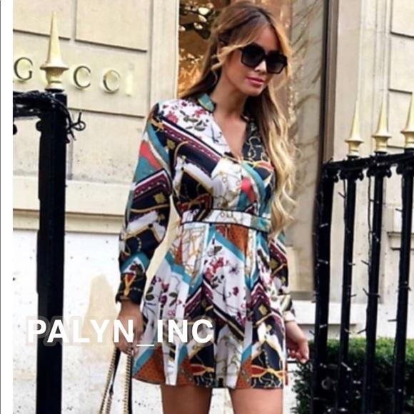 f9681c8e601 ❤️ZARA PATCHWORK CHAIN PRINT DRESS